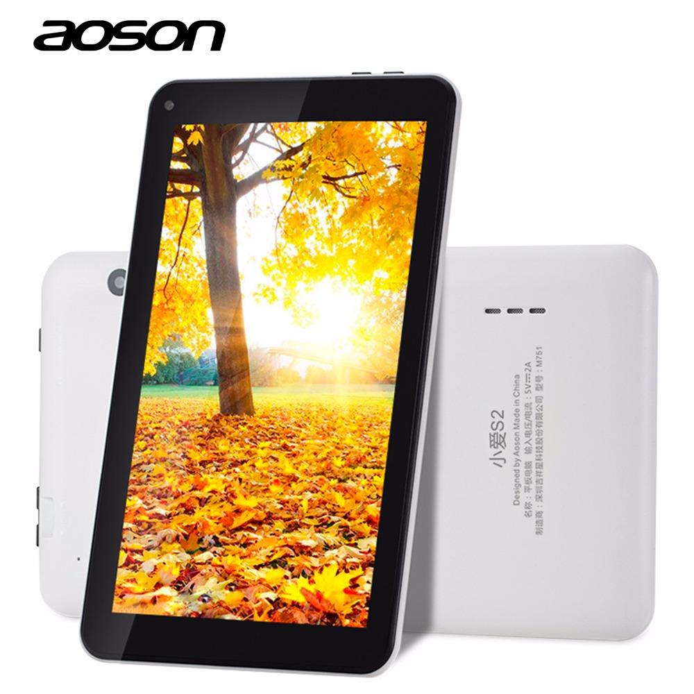 Prix pour Nouveau! aoson m751 android 5.1 tablet pc 7 pouce 1024*600 ips écran Quad Core Double Caméra 8 GB ROM 1 GB RAM WiFi Bluetooth PC comprimés