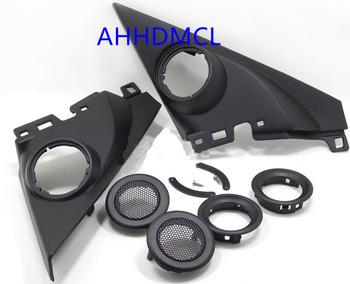 Głośnik samochodowy montaż głośników pudełka uchwyty Audio drzwi kąt guma dla Civic 10th generacji 2016 2017 2018 tanie i dobre opinie Skrzynek głośnikowych ABS+PC+Metal AHHDMCL Black 0 35kg Car audio door angle gum tweeter refitting