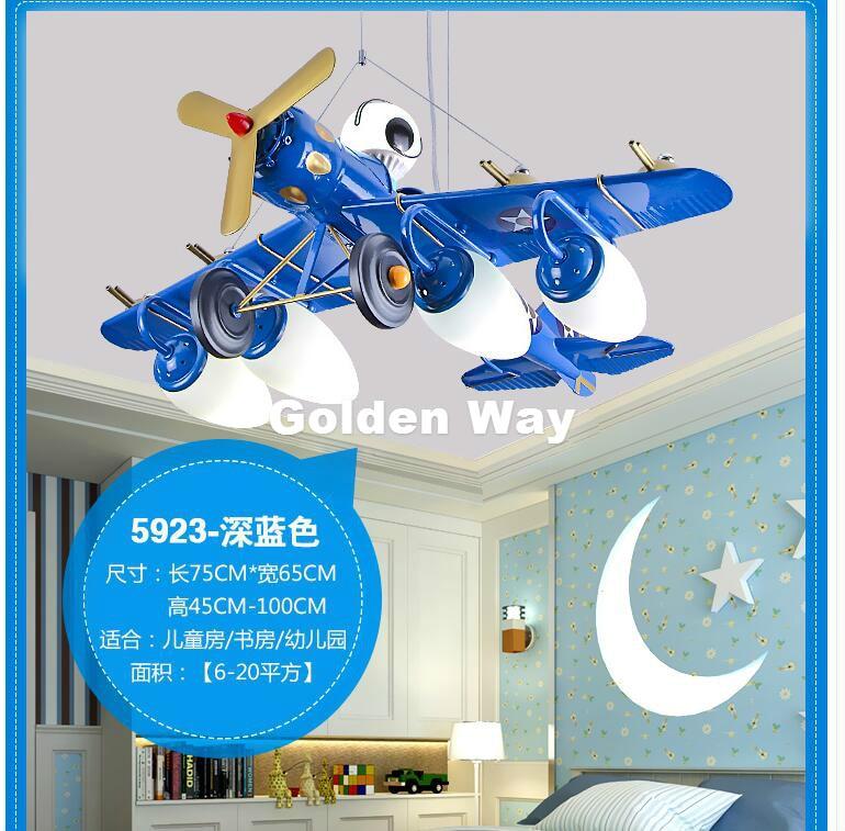 Boy Children Plane L75cm Design Pendant Lamp Modern LED Pendant Lights Fixture Kids Children Bed Room Lighting Remote Controller