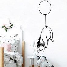 все цены на NEW balloon dog Wall Stickers Decorative Sticker Home Decor Waterproof Wall Decals Rooms Home Decoration muursticker онлайн