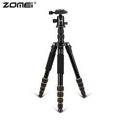 Zomei Q666 Professional Camera Tripod Lightweight Portable Travel Aluminum Monopod With 360 Degree Ball Head For DSLR Camera