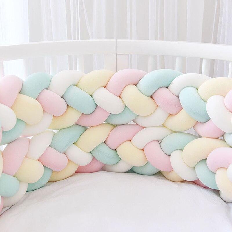 2 2 Meter 4 Ropes Soft Cotton Baby Bed Bumper Bebek Baby Room Decor Bebes Crib