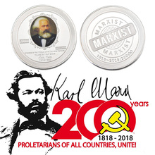 WR Germany Karl Marx Silver Plating Commemorative euro Copy coins for Art Collection Collectible or Decorative replica