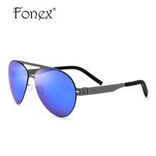 FONEX No Screw Germany My Style Women Aviation Sunglasses Men Brand Designer Aviador Memory Sun Glasses Eyewear 88059