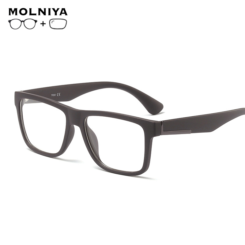High-end Custom New Style Fashionable Men Progressive Reading Prescription Glasses With Gradient Lens Anti Blue Ray Protection