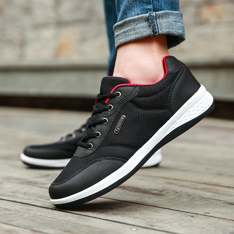 2019 New Men Shoes Lace-Up Fashion Breathable Men Casual Shoes Brand Men Sneakers Men FLats Tenis Masculino Zapatillas Hombre