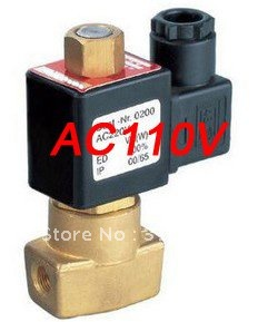 Free Shipping 5PCS A Lot Electric Solenoid Valve Water Air N/O 110V AC 1/8 Normally Open Type free shipping 5pcs g3 8 normally open brass electric solenoid valve dc24v n o