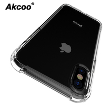 Akcoo SOFT TPU shock absorb Cases for iPhone XS Max cover with heavy duty protection cystal clear XR 6 7 8 Pluse Case
