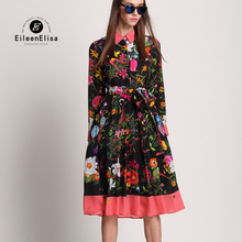Long Dresses Summer 2018 Woman Silk Dress Floral Sleeve Women Elegant