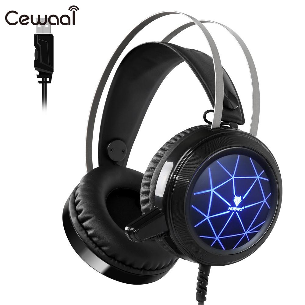 Á—'cewaal Stereo Deep Bass Headset Gaming Headset Gamer Pc Headphone Gamer Stereo Gaming Headphone With Microphone Led For Computer A552