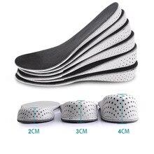 1 пара, Удобные стельки для женщин и мужчин, увеличивающие рост, унисекс, стельки из пены с эффектом памяти, обувь, полная Подушка Hlaf