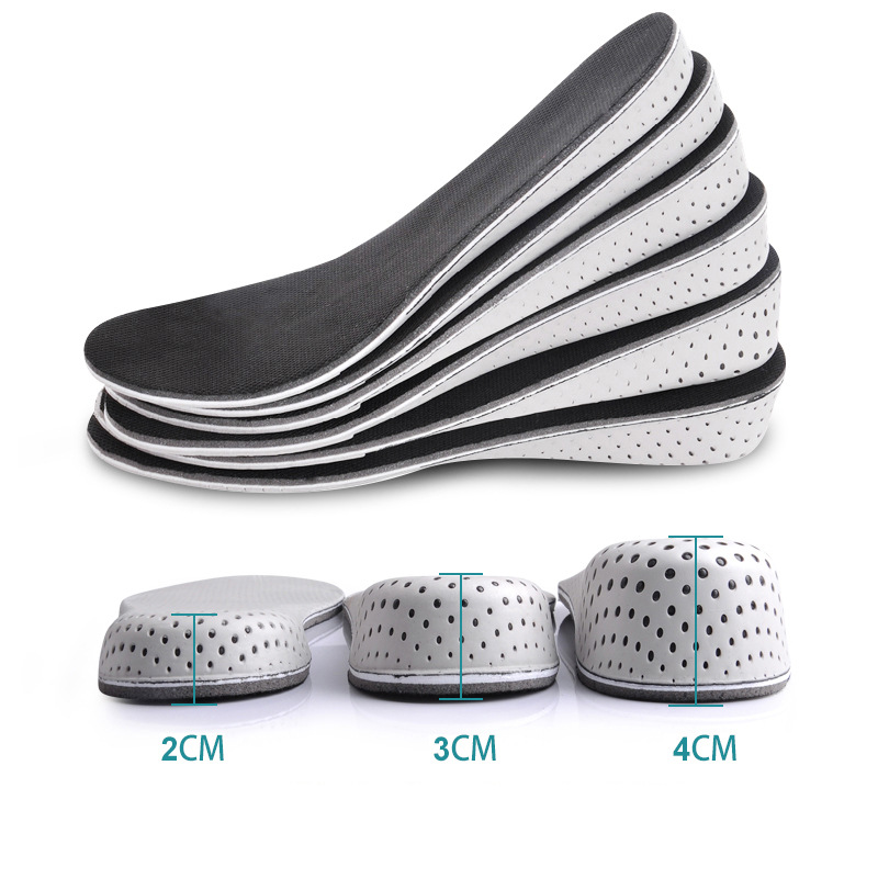 1 Pair Women Men Comfortable Height Increase Insole Unisex Insert Memory Foam Insoles Shoes Full Hlaf Pad Cushion