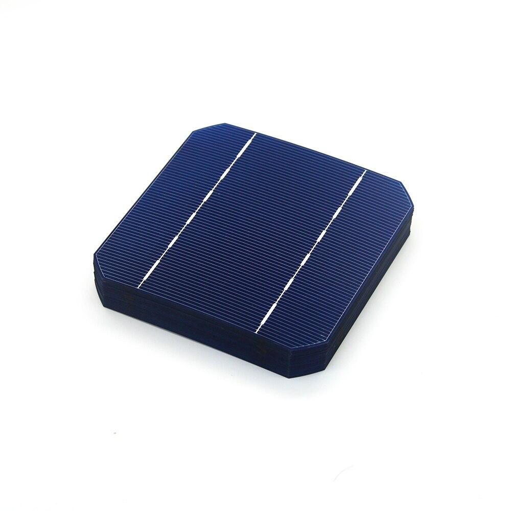 50pcs High Efficiency Blue 17.6% Monocrystalline Silicon Solar Cell 125*125MM Elements For DIY Solar Panels