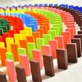 Colorful 120 unids Lot juego de Mesa Juego de Dominó de Madera para Los Niños Regalo de Los Niños Juguetes Respetuosos del medio ambiente Verde No tóxico pintura