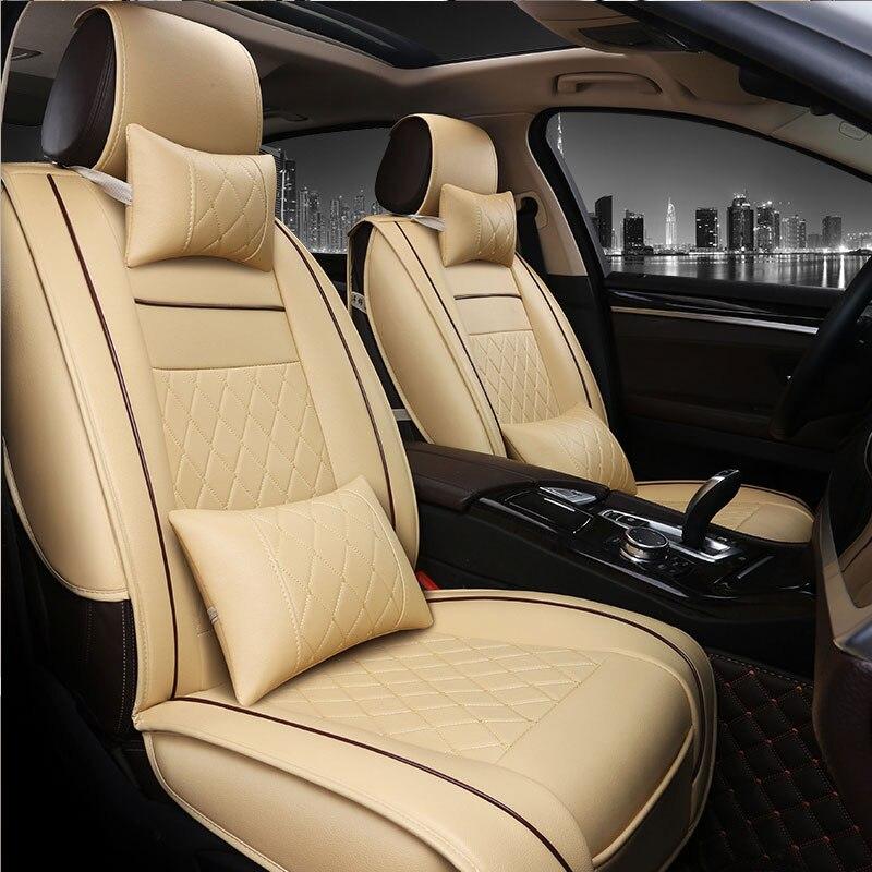 Housses de siège auto en cuir synthétique polyuréthane universelles pour MG GT MG5 MG6 MG7 mg3 mgtf accessoires auto housses auto style voiture 3D noir/blanc/marron