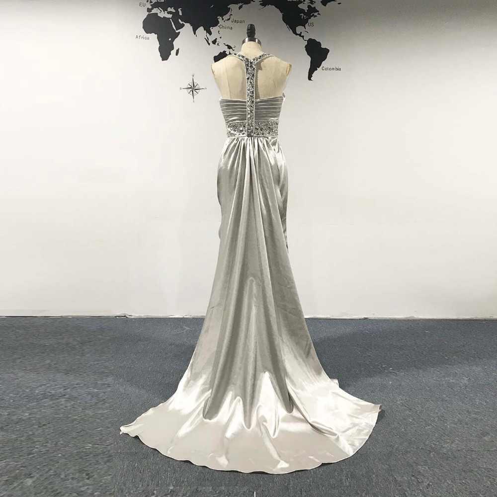 long evening dress 2018 sodigne hot sale rhinestone crystal pleats long  prom party dres royalty elegant lange abendkleider