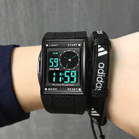 Men Watch OTS Luxury Brand LED Digital And Analog Rubber Band Outdoor Sports Watches Square Dial