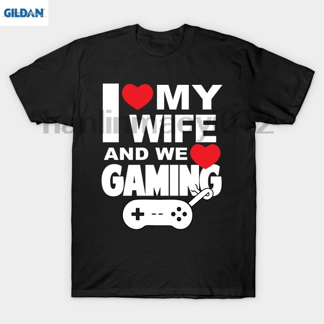 GILDAN I love my wife and we love gaming T-Shirt T-Shirt ...