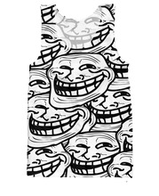 Women Men Summer Sleeveless Vest Jersey all-over print Troll Face Tank Top Sexy Tanks Fashion Camis Plus Size S-5XL