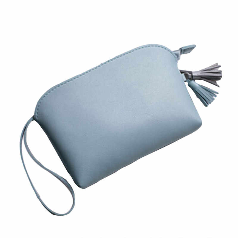 بو الجلود محفظة للعملة المرأة صغيرة تغيير المال أكياس جيب محافظ مفتاح حامل حالة البسيطة الحقيبة سستة