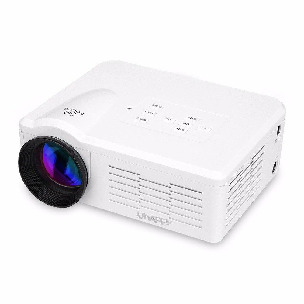 Hot sale! Hot sale Uhappy BL35 Multimedia Mini LED Projector Home Theatre Cinema 640*480 SD/VGA/HDMI/AV/Micro USB/ATV Proyector