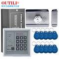 Conjunto portão de ferro porta de madeira fechadura elétrica de controle de acesso eletrônico 10