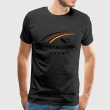 100% Cotton O-neck Custom Printed Men T shirt Germany flagshirt 2018 german  jersey 80d81bc44