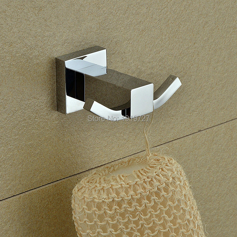 2016 high quality bathroom square wall hanger 100 copper