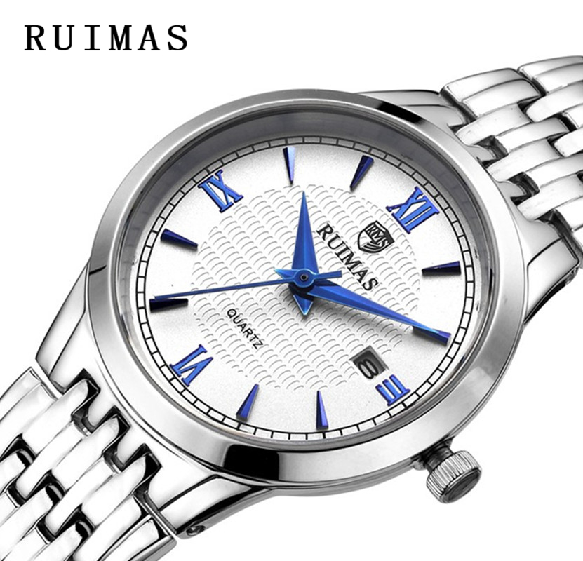 Big Sale RUIMAS Ladies Armbåndsur Quartz Watch Kvinder Sølv til - Dameure - Foto 1