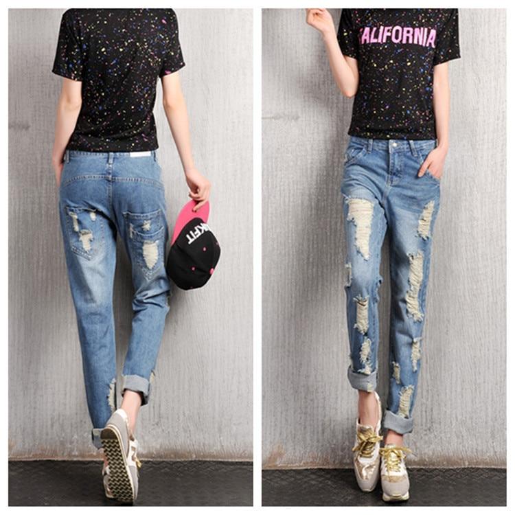 Aliexpress.com : Buy Ripped Boyfriend Jeans For Women Plus Size ...