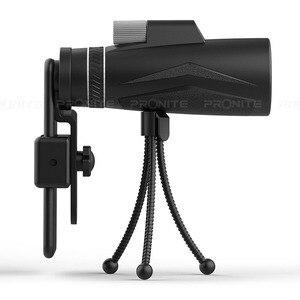 Image 3 - 単眼ズーム 12 × 50 プロの望遠鏡hdナイトビジョン単眼狩猟光学スコープ電話ホルダー/三脚turizmスパイグラス