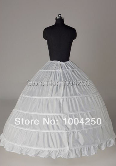 Discount Sale! 50% OFF! Free Shipping white ball gown six tiers big wedding dress Petticoat cheap petticoat bridal accessories