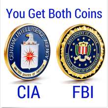 10pcs /lot (each of 5pcs)Federal-Bureau-of-Investigation-FBI-amp-CIA-Challenge-Coin-Lot