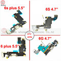 For iphone 6 4.7 6 plus 5.5 Audio Jack + Charger Dock Charging Port Flex Cable For Apple iphone 6s 6s plus parts white / grey