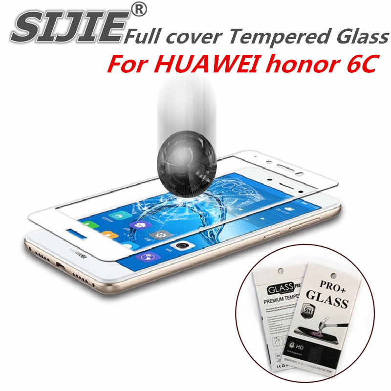 Полное покрытие закаленное стекло для Huawei honor 6C 6C honor 6C экран защитный чехол для смартфона 9 H закаленное черный, белый цвет золото дисплей