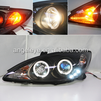 FOR TOYOTA Camry Aurion Head Light with 3 LEDs Black housing 2001-2006 Year SN