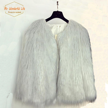 2015 Celebrity Ostrich Feather Fur Jacket Faux Karakul Sheep Fur Coat Female Long Hair Overcoat Hairy Casaco De Iverno Chaqueta