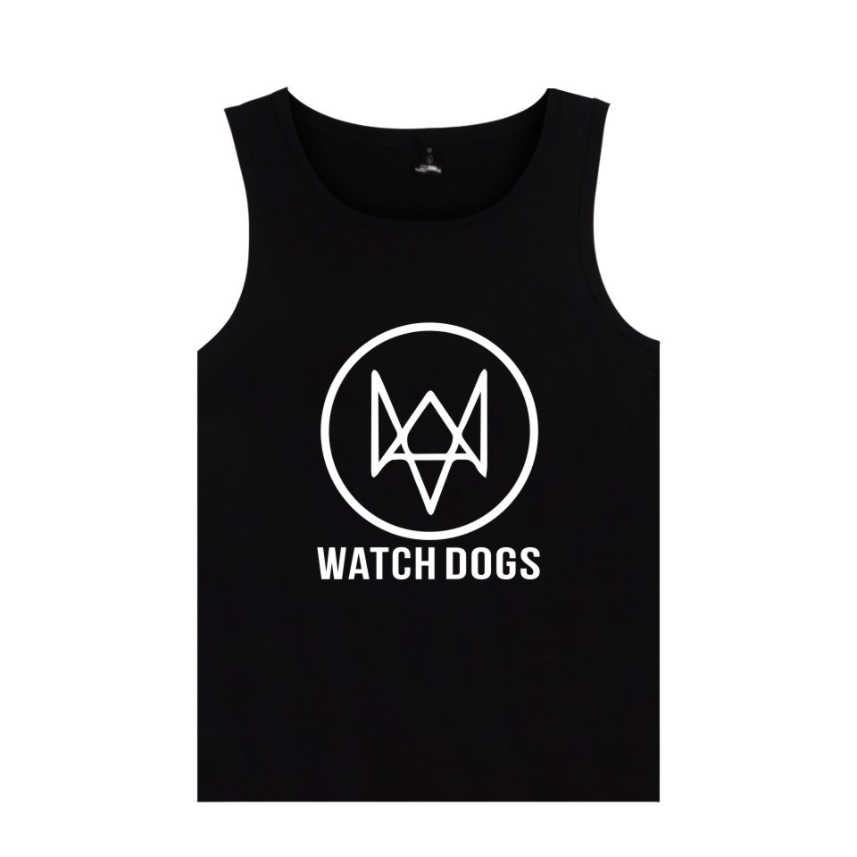 Action-Adventure Video Game Watch Dogs 2   Tank     Tops   Men Women Cotton Fashion Casual Clothing WATCH_DOGS 2 Vest   Tank     Tops
