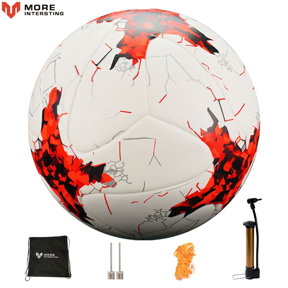 Russia Size 4 Size 5 Football Premier Seamless Soccer Ball Goal Team Match Training Balls League futbol bola with Pump Gift image