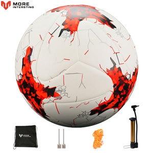 Image 1 - Russland Professionelle Größe 4 Größe 5 Fußball Premier PU Nahtlose Fußball Ball Ziel Team Spiel Training Bälle League futbol bola