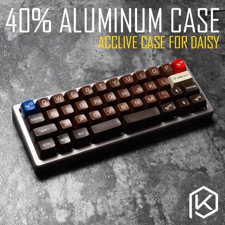 Anodized Aluminium case for daisy 40 custom keyboard acrylic panels acrylic diffuser can support daisy acclive