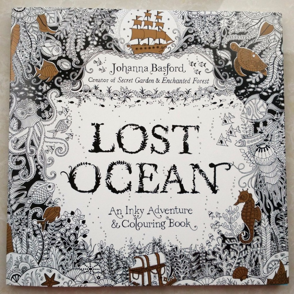 88 Pages Secret Garden Serie LOST OCEAN Adult Coloring Colouring Books For Relieve Stress Kill Time Painting Drawing Book