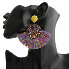 ECODAY Bohemian Crystal Tassel Earrings for Women Statement Dangle Earring Oorbellen Brincos 2019 Boho Jewelry