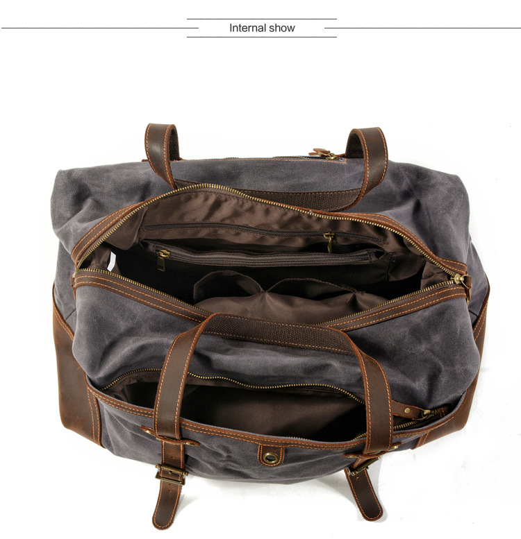 inside of the satchel duffle bag from Eiken