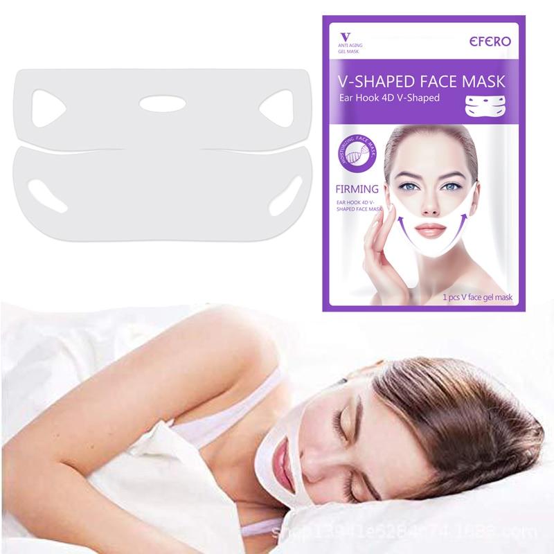 Double V Face Mask Firming Mask Double Ear 7 Style Lifting Slimming Face Masks V Shape Lift Peel-off Bandage Skin Care TSLM1