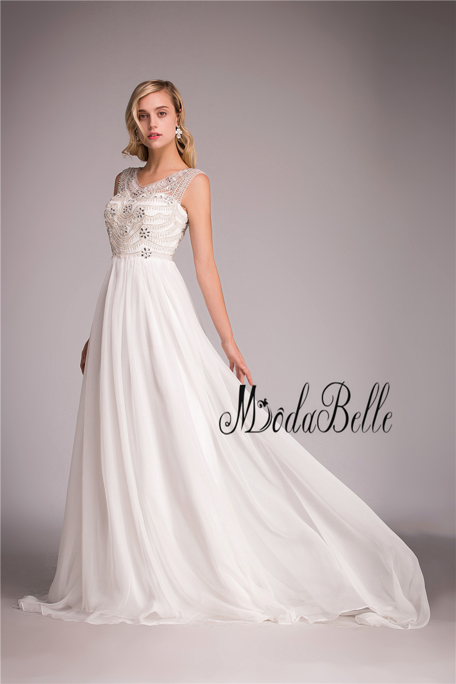 modabelle 2018 Beach Bohemian Wedding Dress Boho Chiffon A Line Sexy ...