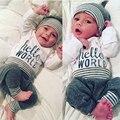 Bebê Menino Roupas Casuais Bebê Roupas Menina Dos Desenhos Animados Padrão de Alta qualidade Infantil T Shirt do Terno + Calças Conjuntos de Roupas Infantis Outfits
