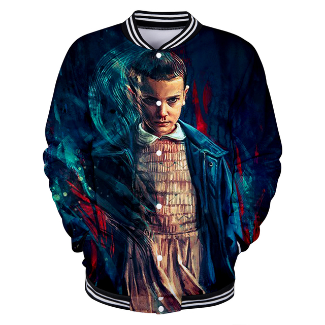 b53994378517 BTS New 2018 Stranger Things 3D Funny Anime Print Women Men Sexy Baseball  Jacket Sweatshirts Spring Cool Jacket 4XL Coat Outwear