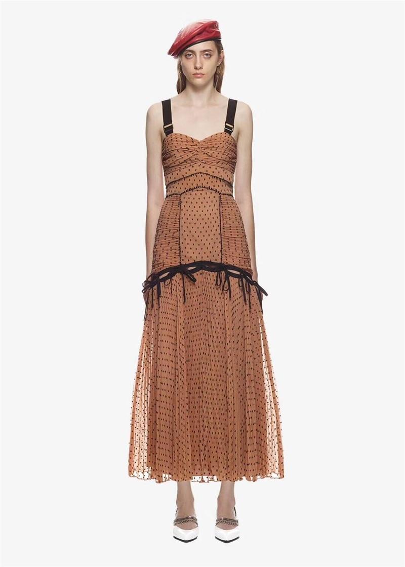New arrive off shoulder black dot print women chiffon dress backless sexy chiffon party dress