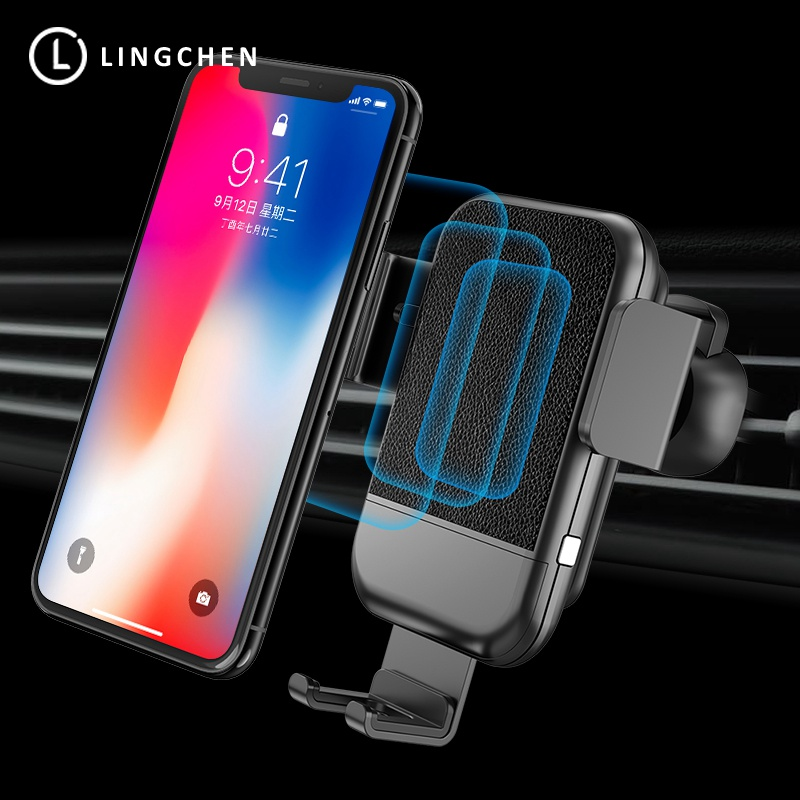 LINGCHEN Car Mount Qi Wireless Charger For Samsung Note 9 S8 S9 Wireless Charging in Car Phone Holder For iPhone 8 X XS Max XRLINGCHEN Car Mount Qi Wireless Charger For Samsung Note 9 S8 S9 Wireless Charging in Car Phone Holder For iPhone 8 X XS Max XR